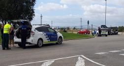 Un motorista ferit arran d'un accident amb un turisme a la Girada