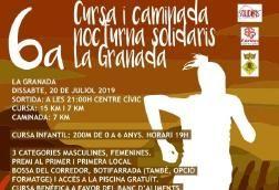 Demà tindrà lloc la sisena cursa i caminada nocturna Solidaris la Granada