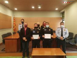 La comissaria dels Mossos de Sant Sadurní lliura quatre felicitacions a persones externes al cos